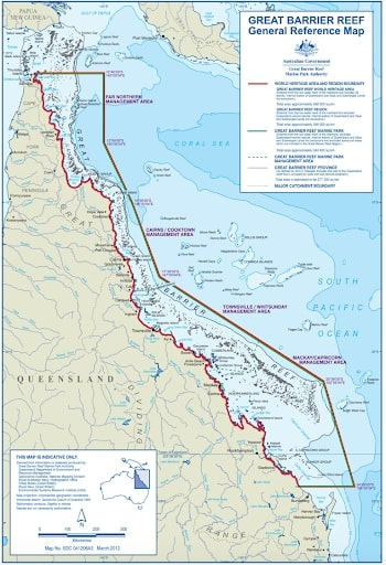 Great barrier reef no-catch zone
