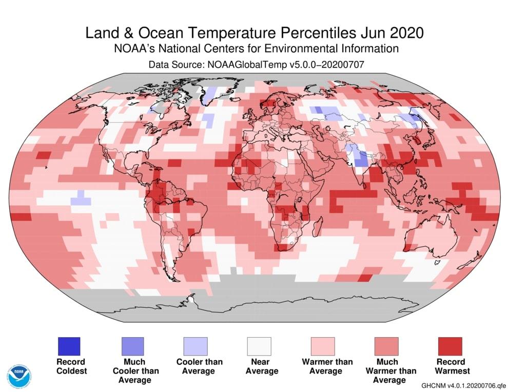 june 2020 temperature anomalies