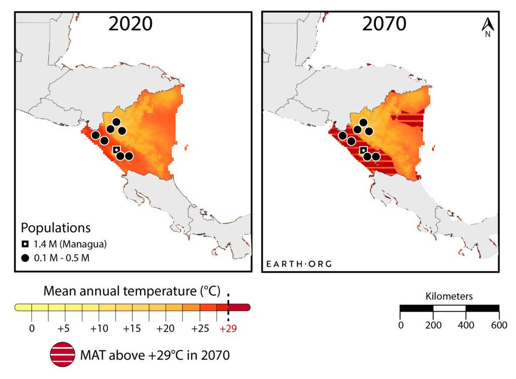 Nicaragua climate change too hot migration