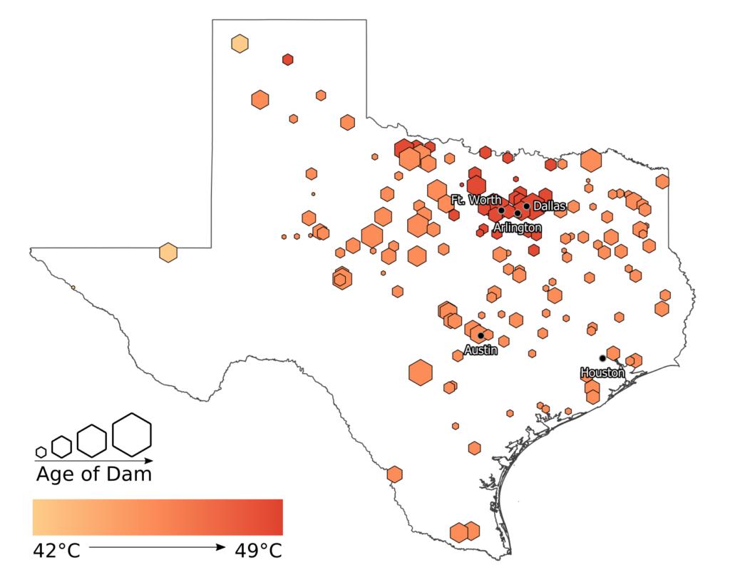 hotspots dams texas global warming