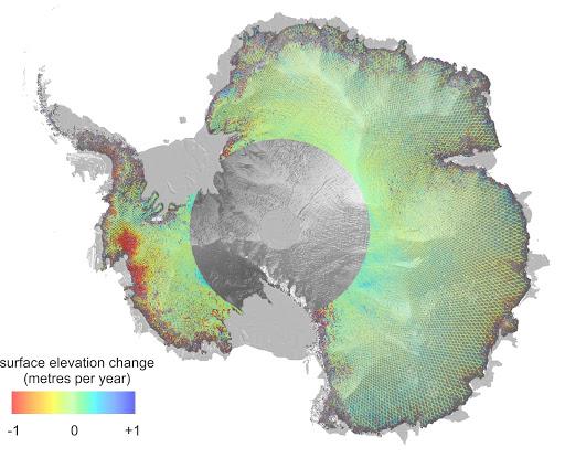 satellites ice caps cryosphere