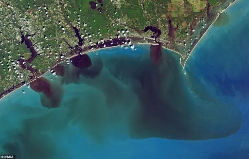 ocean pollution satellite imagery
