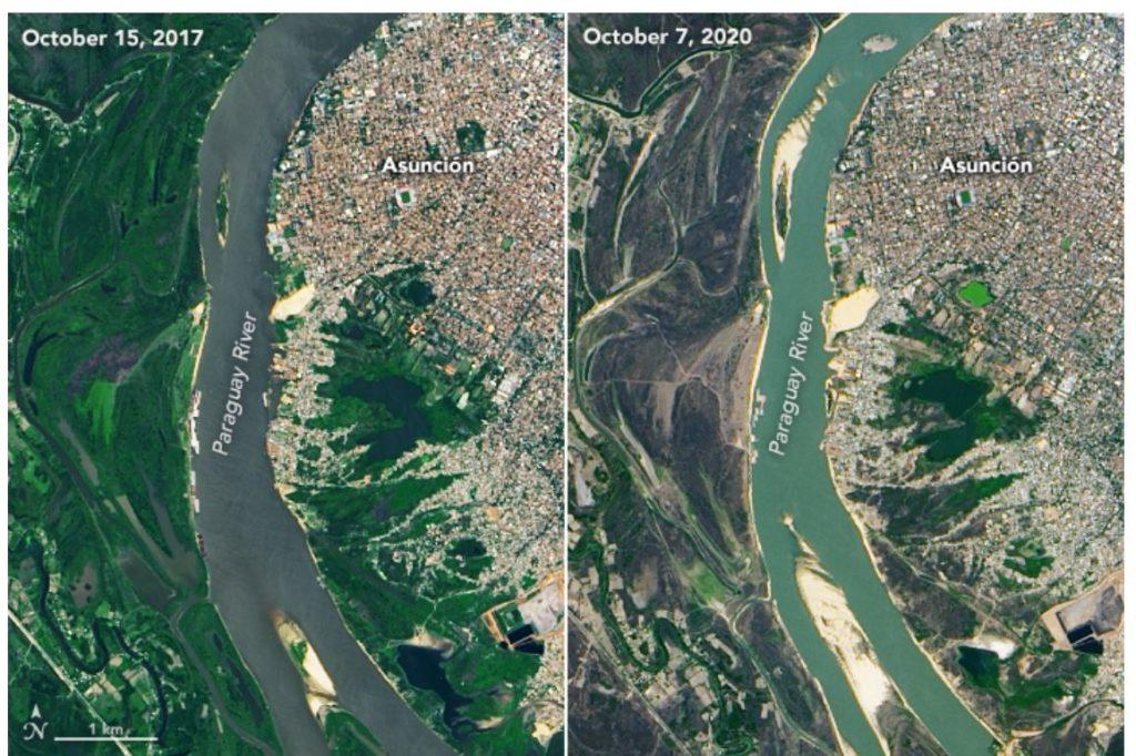 asuncion south america drought 2020 NASA Paraguay