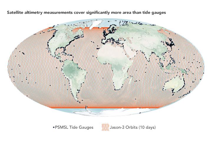 nasa sea level rise measurement