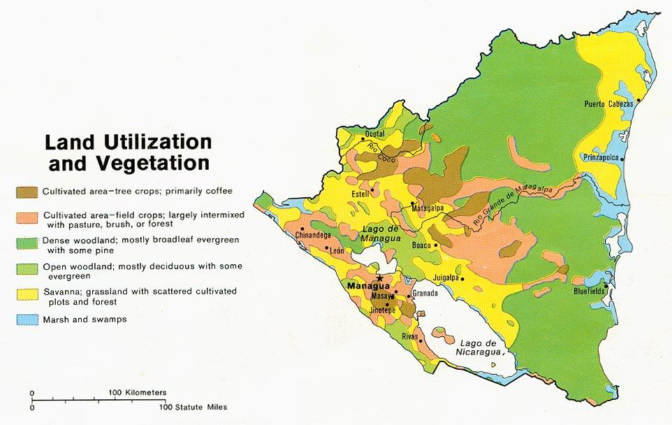 nicaragua natural resources land usage