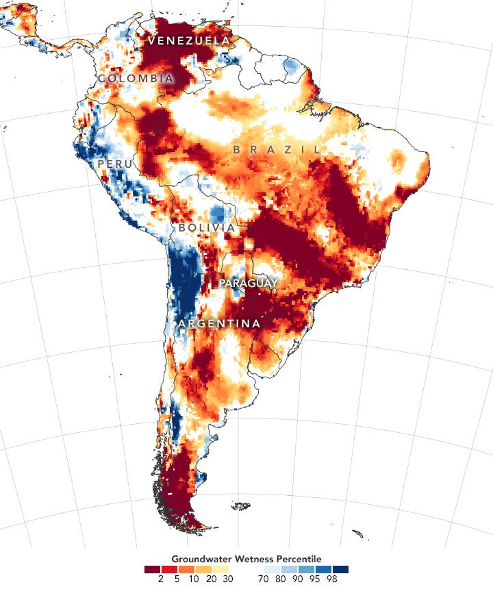 south america drought ground moisture