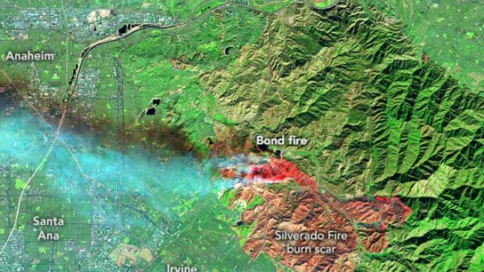 A Satellite View Of The Remaining Californian Fires