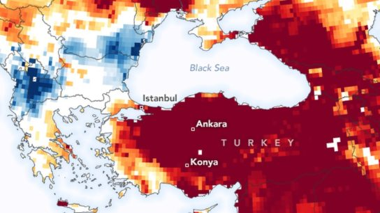 Severe Drought in Turkey Visualized by NASA Satellite