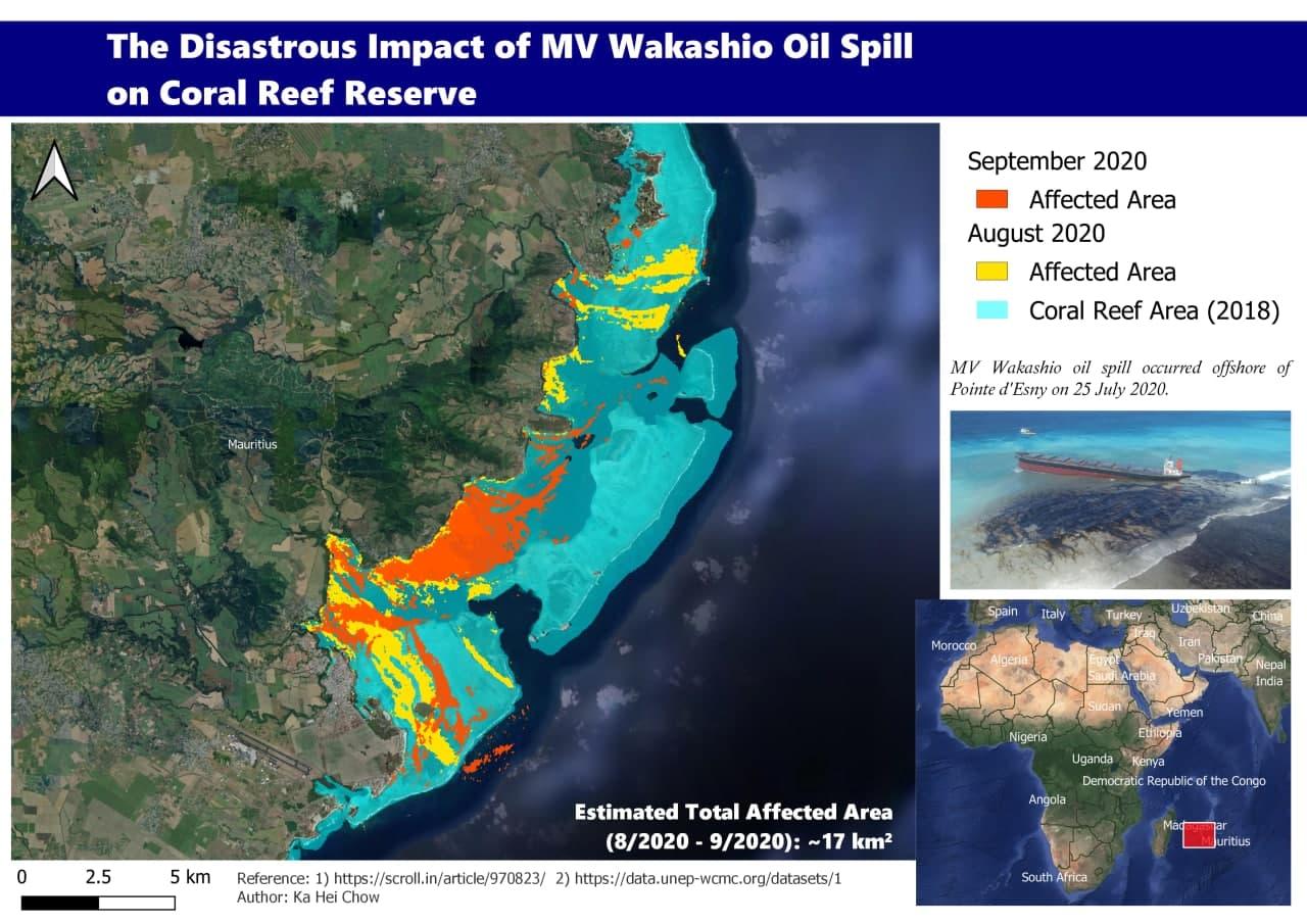 mauritius oil spill mv wakashio