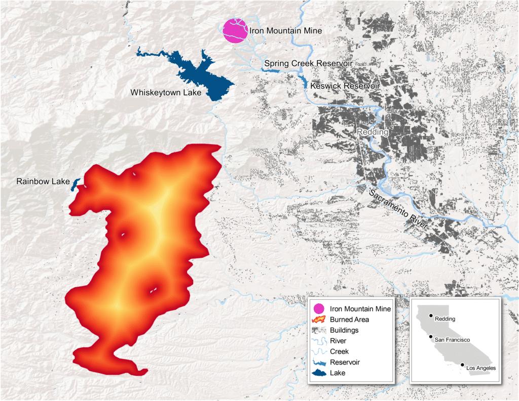 redding california iron mountain mine superfund wildfire