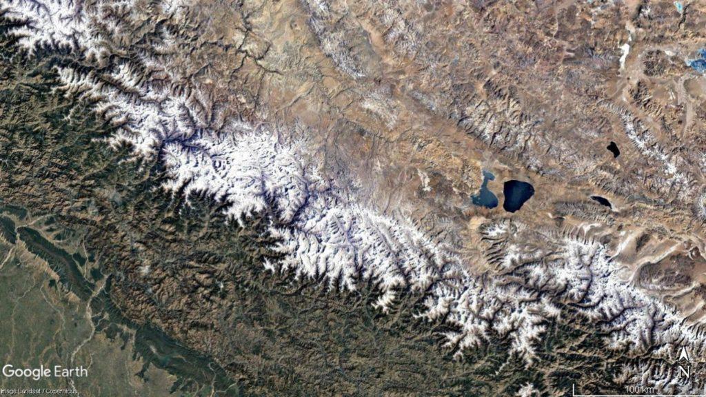 hindu kush glaciers landsat nasa google earth