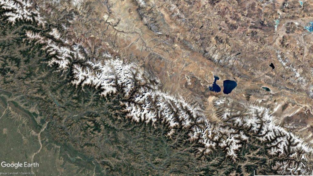 hindu kush glaciers landsat nasa