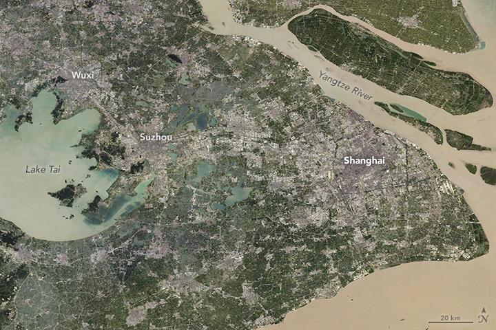 Shanghai Megalopolis NASA Landsat 2010s