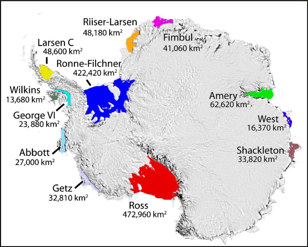 antarctica ice shelves