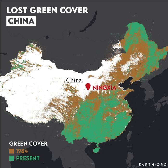 china desertification map