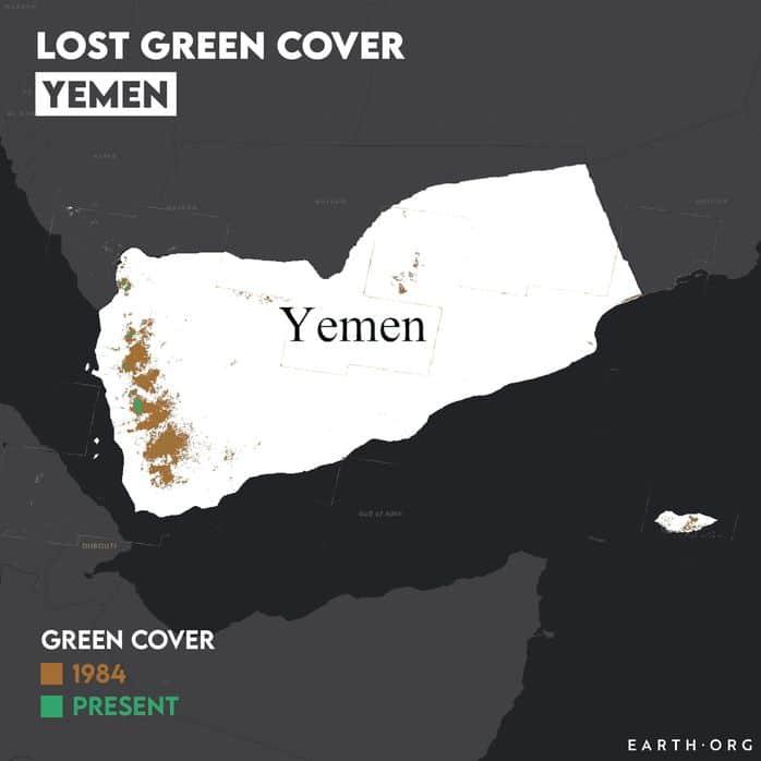 yemen desertification map 1984 vs present